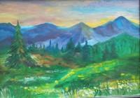 """""""Путь в горы"""", автор Привалова Елизавета"""