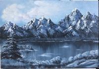"""""""Озеро в горах"""", автор Шайдуллина Лилия"""