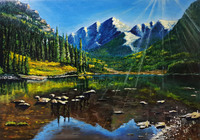 """""""озеро в горах"""", автор Константин Гусев"""
