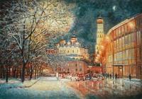"""""""На улице зимней, средь вечерних огней..."""", автор Разживин"""
