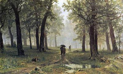 Шишкин, Дождь в дубовом лесу