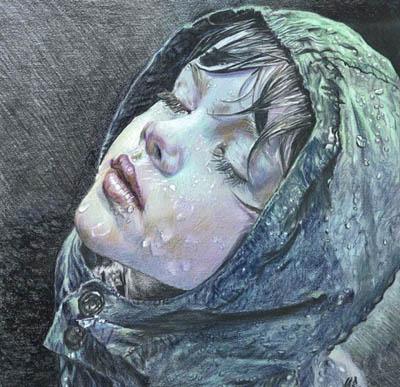 Дождь от художницы-самоучки из Мексики - Марии Зельдис (Maria Zeldis)