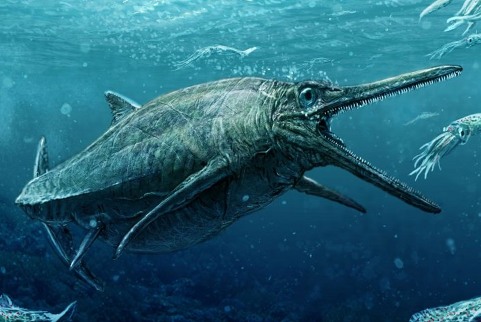 Artist's rendering of Storr Lochs Monster. Image: Todd Marshall.