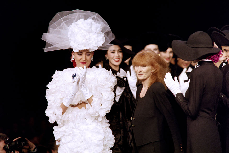 1987 French fashion designer Sonia Rykiel