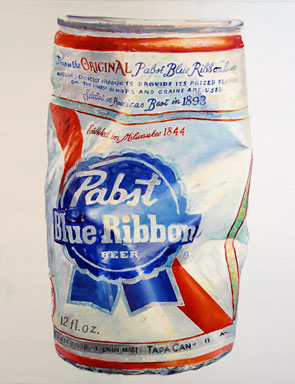 Don Nice (b. 1932), PABST, 2015. Oil on canvas, 60 x 40 inches.